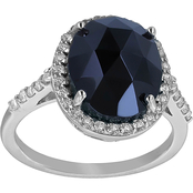 Robert Manse Designs Gem RoManse Black Onyx Ring with White Topaz Accents