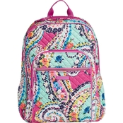 Vera Bradley Iconic Campus Backpack, Wildflower Paisley