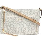 Calvin Klein Monogram Signature Zip Crossbody Bag
