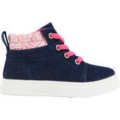 Oomphies Lamo Sheepskin Girls Sam Mid Canvas Lace Sneakers