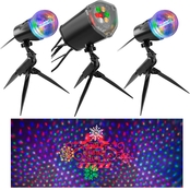 Gemmy Lightshow Projection LightSync With Sound Jingle All the Way Star Spinner