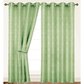 Dainty Home Helen Single Window Curtain Panel 84 in.