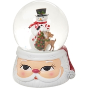 Roman Musical 6 in. Dome with Snowman and Santa Base
