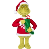 Dr. Seuss Grinch in Ugly Sweater Holiday Greeter