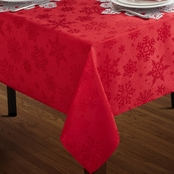 Benson Mills Textured Snowflake Tablecloth