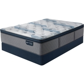 Serta iComfort Hybrid Blue Fusion 300 Plush Pillow Top Mattress Low Profile Set