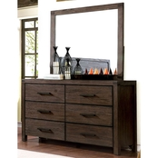 Furniture of America Rexberg Dresser and Mirror Set