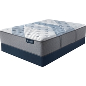 Serta iComfort Hybrid Blue Fusion 3000 Plush Mattress Low Profile Set