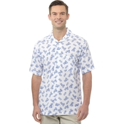 Haggar Big & Tall Printed Crinkle Shirt