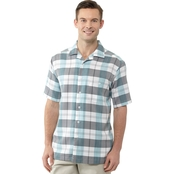 Haggar Big & Tall Plaid Crinkle Shirt