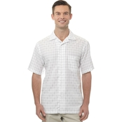 Haggar Big & Tall Checked Crinkle Shirt