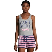 Sleep & Co. Can't Adult Today Tank and Short Sleep Set