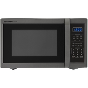 Sharp 1.4 Cu. Ft. Microwave Oven in Black Stainless Finish