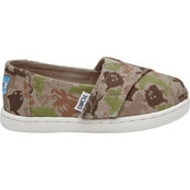 TOMS Boys Oxford Tan Creature Slip On Shoes