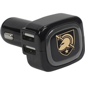 QuikVolt West Point Black Knights 4 Port USB Car Charger