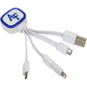 QuikVolt Air Force Falcons Tri Charge USB Cable with Lightning Adapter