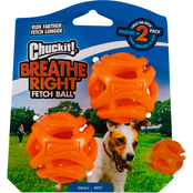 Petmate Chuckit! Breathe Right Fetch Ball Small Dog Toy, 2 pk.