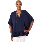 Michael Kors Chain Lace Caftan Top