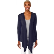 Michael Kors Open Cardigan with Uneven Hem