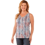 Gloria Vanderbilt Eternal Stripe Print Top