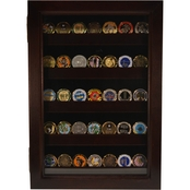 DomEx Hardwoods Coin Display Cherry Shadow Box