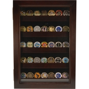 DomEx Hardwoods Coin Display Shadow Box, Cherry