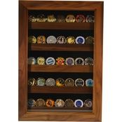 DomEx Hardwoods Coin Display Shadow Box, Walnut
