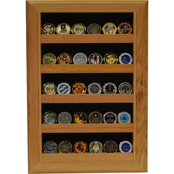 DomEx Hardwoods Coin Display Open Wall Oak Shadow Box