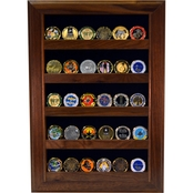 DomEx Hardwoods Coin Display/Open Wall, Walnut
