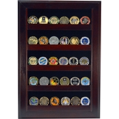 DomEx Hardwoods Coin Display/Open Wall, Cherry