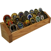 DomEx Hardwoods 3 Tier Oak Coin Rack