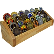 DomEx Hardwoods 4 Tier Oak Wood Coin Rack