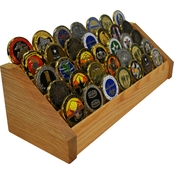 DomEx Hardwoods 5 Tier Oak Coin Rack
