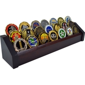 DomEx Hardwoods 3 Tier Cherry Coin Rack