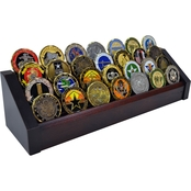 DomEx Hardwoods 4 Tier Cherry Coin Rack