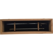 DomEx Hardwoods Saber Display with Glass Door (Cadet) Oak