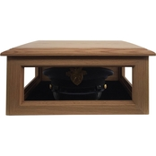 DomEx Hardwoods Hat/Cover Box, Solid Top, Oak