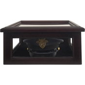 DomEx Hardwoods Hat/Cover Box, Glass Top, Cherry