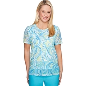 Alfred Dunner Paisley Scroll Top