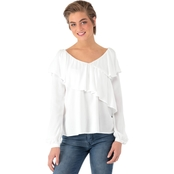 One Hart Ruffle Tie Sleeve Blouse