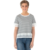 One Hart Lace Stripe Top