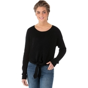 One Hart Front Tie Knit Sweater