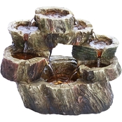 Alpine Circular Tiered LED Fountain
