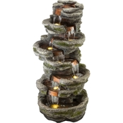 Alpine Multiple Tiered LED Fountain