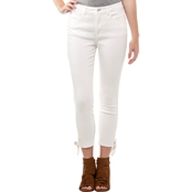 Kensie Jeans Ankle Tie Jeans with Fray