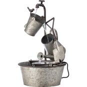 Alpine Metal Tiered Garden Tools Fountain