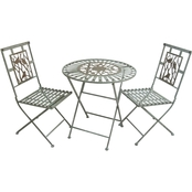 Alpine Birds on Branches Bistro Set