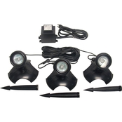 Alpine 20 Watt Light Set of 3 with Transformer for Use In or Out of Water