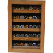 DomEx Hardwoods Coin Display Oak Shadow Box