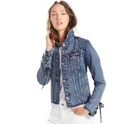 Levi Strauss & Co. Original Trucker Demin Jacket with Embellishment